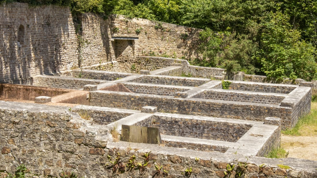 Ruins of a garum factory near Brittany, France.