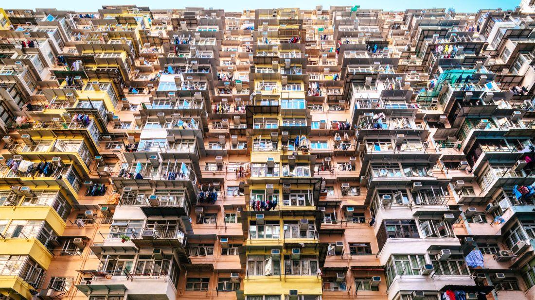 An apartment complex in Hong Kong