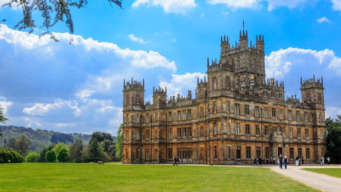 Highclere Castle, used as the setting for Downton Abbey