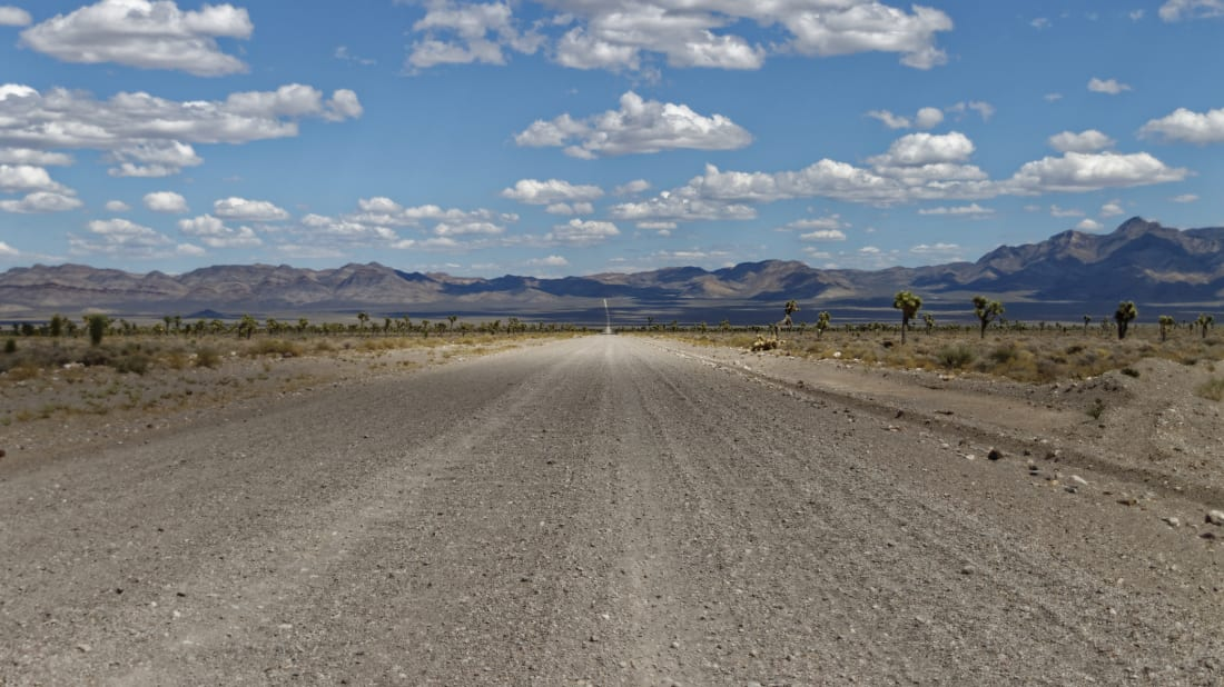 Nevada's Groom Lake Road, near Area 51.