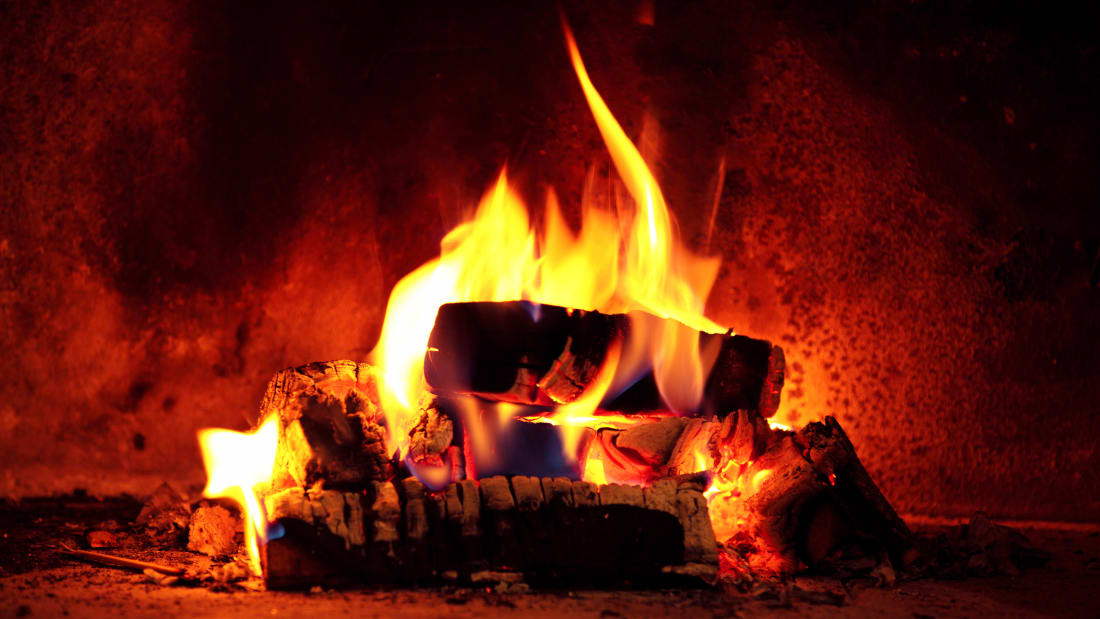 Image result for yule log on tv