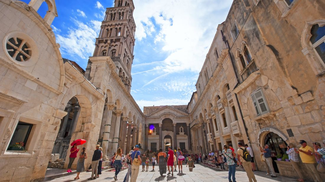 The Palace of Diocletian in Split, Croatia
