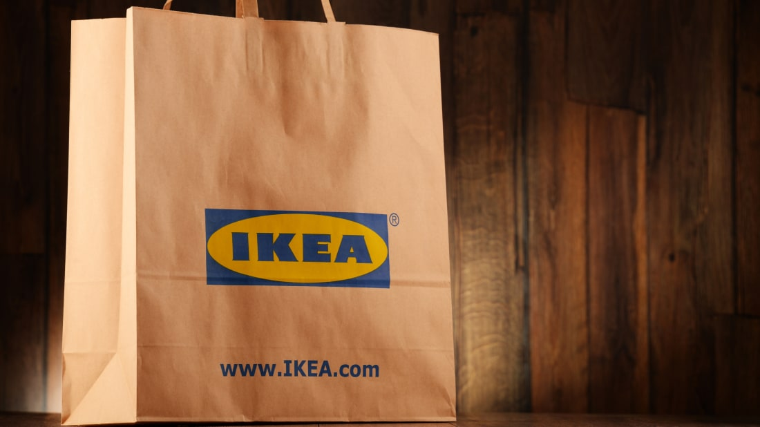 Original IKEA paper shopping bag.