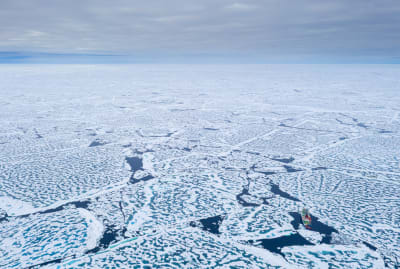 The Alfred Wegener Institute research ship Polarstern reached the North Pole on August 19, 2020, during the year-long MOSAiC expedition to study climate change in the Arctic.