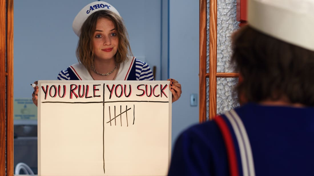 Maya Hawke stars in Stranger Things.