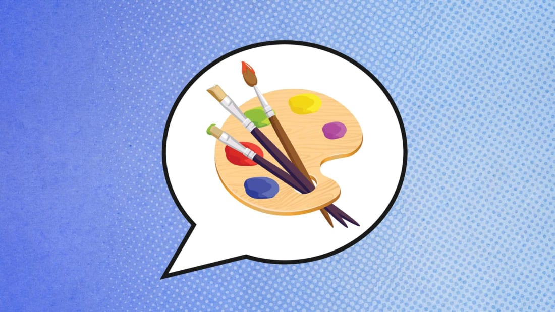 Godruma (palette); Ajwad Creative (speech Bubble)/iStock via Getty Images Plus