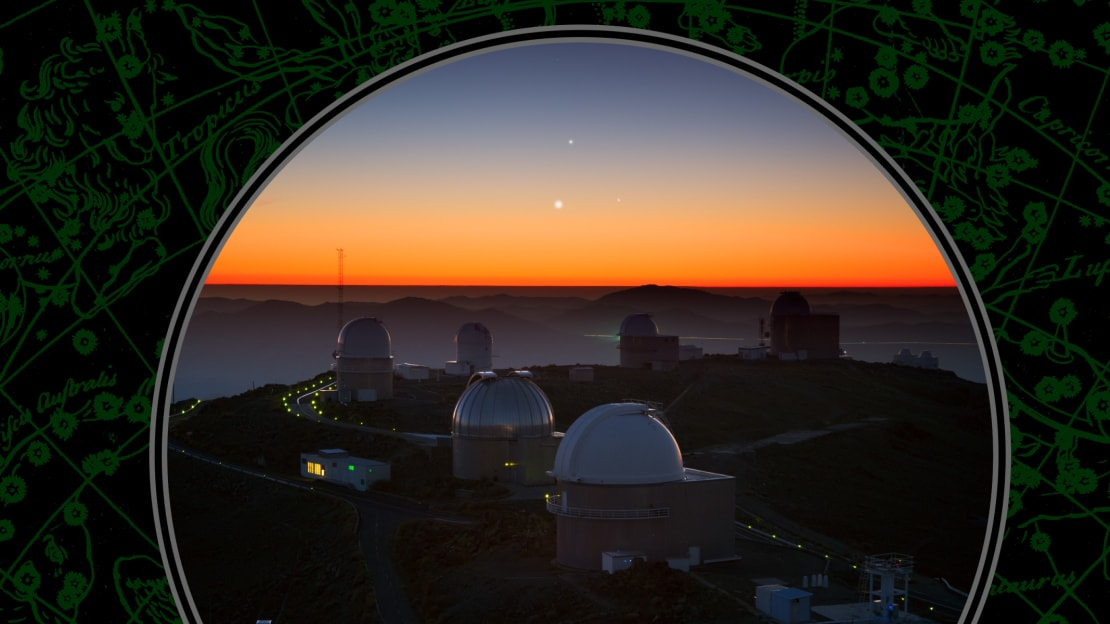 Three planets over the La Silla Observatory in Chile.