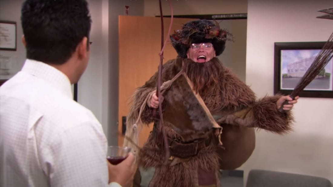 """No one fears Santa the way they fear Belsnickel."" - Dwight Schrute."