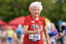 "Julia ""Hurricane"" Hawkins participates in the 2019 Senior Games,"