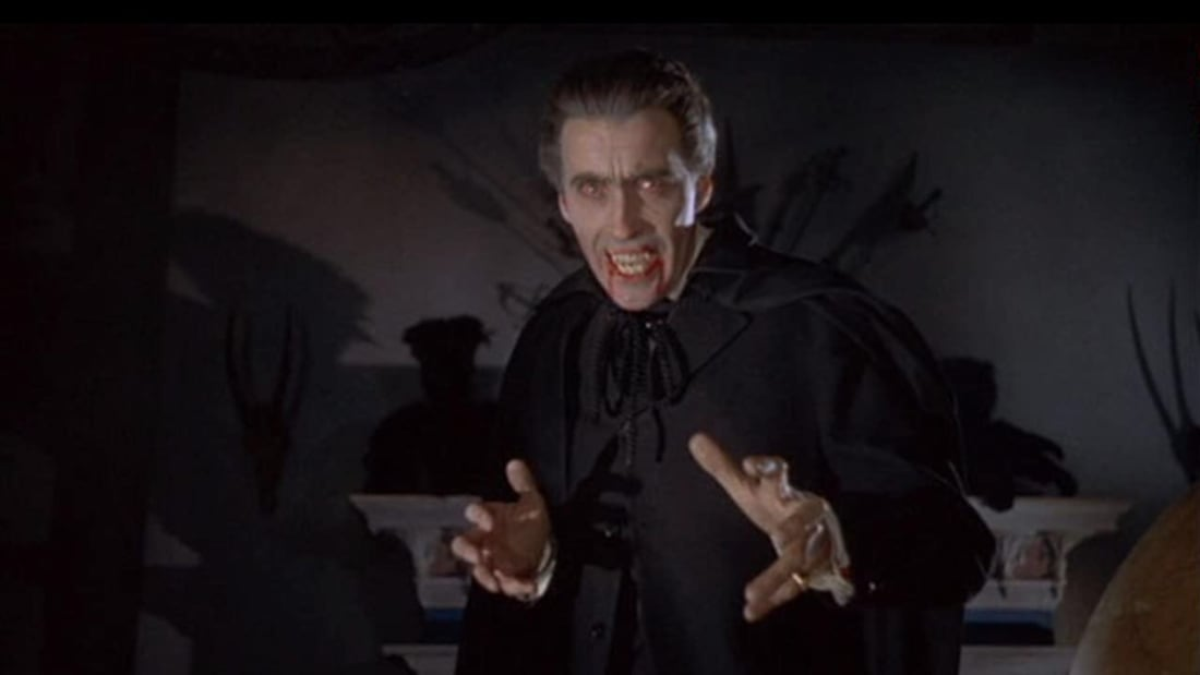 Christopher Lee in Horror of Dracula (1958).