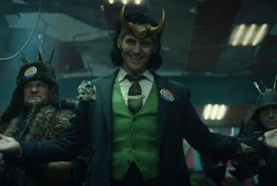 Tom Hiddelston stars in Loki on Disney+.