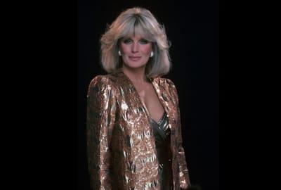 Linda Evans goes big in the shoulder department in Dynasty.