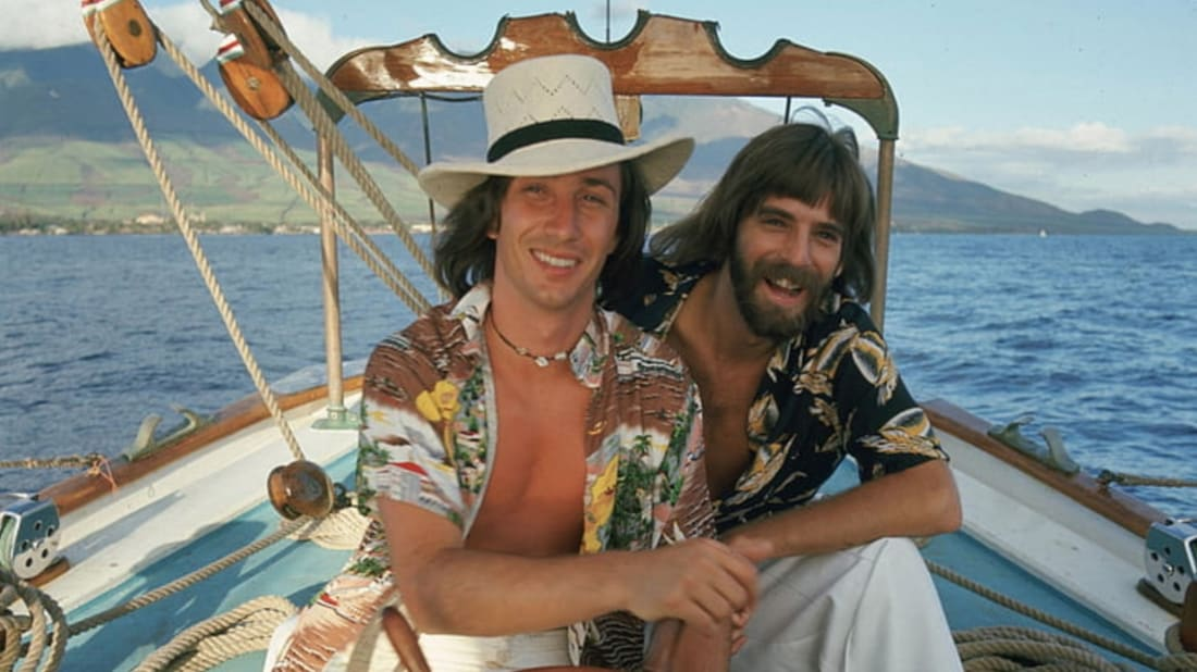 "Kenny Loggins and Jim Messina making some waves on the cover of 1973's ""Full Sail"" album."