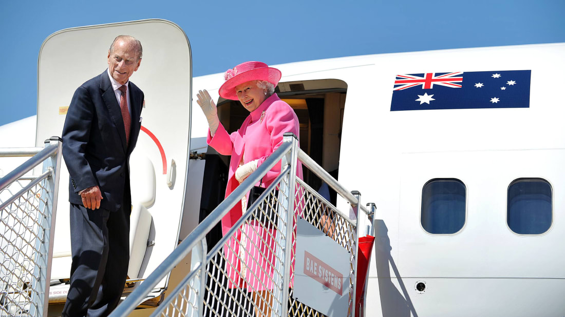Queen Elizabeth II and the Duke of Edinburgh during a visit to Australia in 2011.