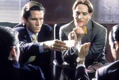Cat-rick Bateman and friends in American Psycho.
