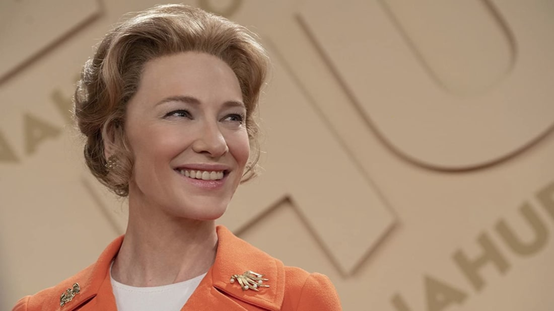 Cate Blanchett as Phyllis Schlafly in Mrs. America.