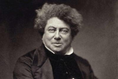 A photograph of Alexandre Dumas by Nadar, circa 1855.