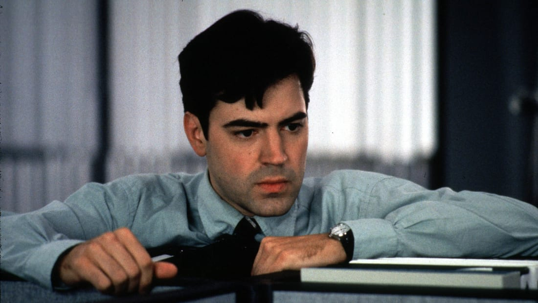 Ron Livingston stars in Mike Judge's Office Space (1999).