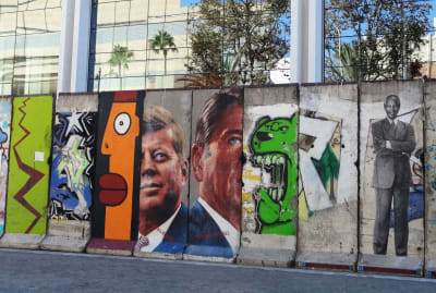 Los Angeles, California, is home to several segments of the Berlin Wall.