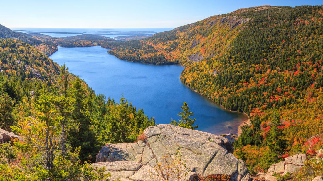 Jordan Pond in Maine's Acadia National Park.