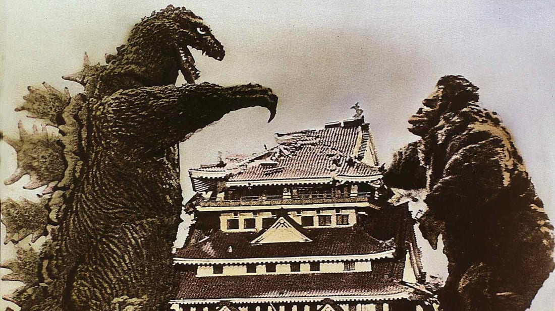 A still from Ishirô Honda's King Kong vs. Godzilla (1963).