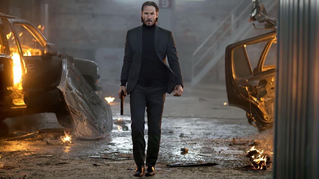 Keanu Reeves stars in John Wick (2014).