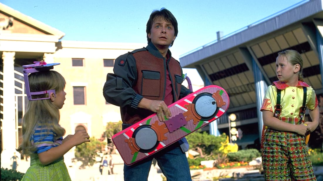 Michael J. Fox in Back to the Future Part II (1989).