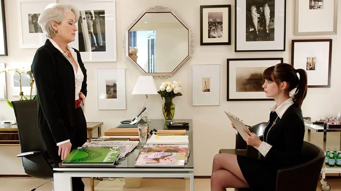 Meryl Streep and Anne Hathaway face off in The Devil Wears Prada (2006).