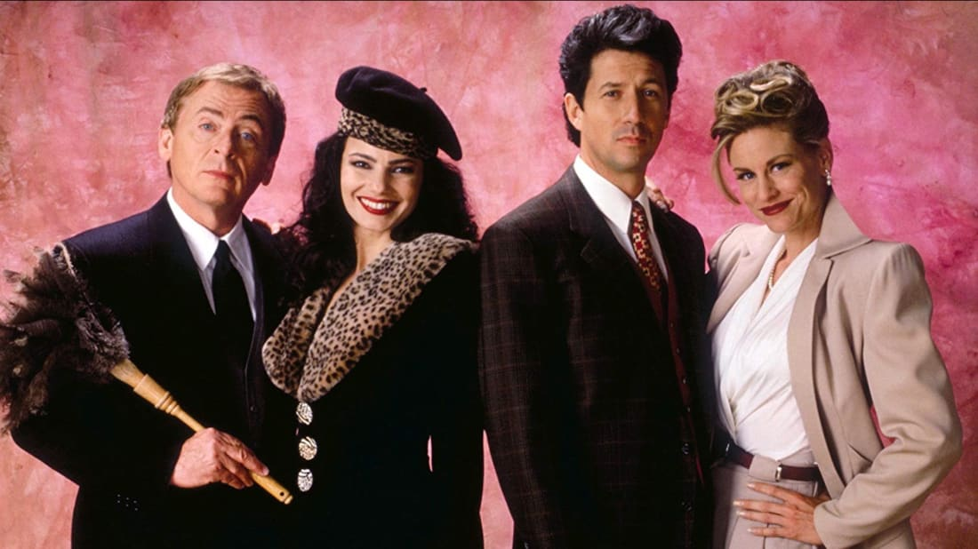 Fran Drescher, Daniel Davis, Charles Shaughnessy, and Lauren Lane star in The Nanny.