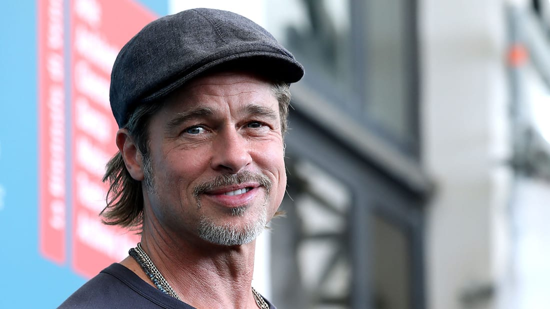 Brad Pitt promotes Ad Astra at the 2019 Venice Film Festival.