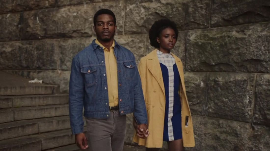 Stephan James and KiKi Layne star in If Beale Street Could Talk (2018).