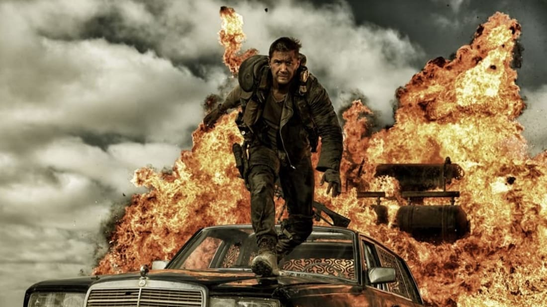 Tom Hardy stars in Mad Max: Fury Road (2015).