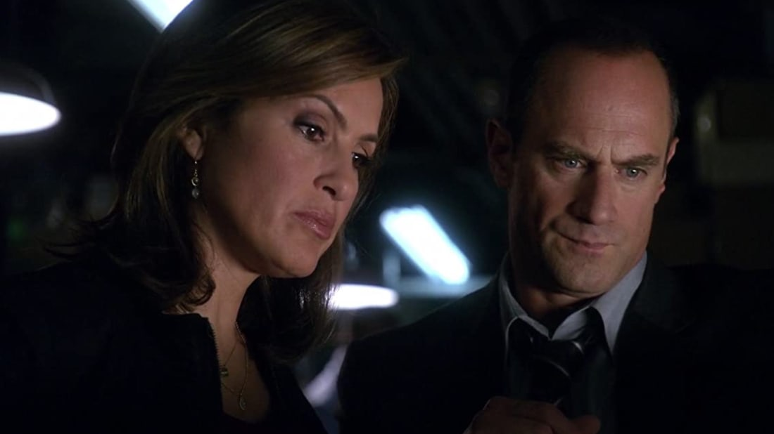 Mariska Hargitay and Christopher Meloni in Law & Order: Special Victims Unit.