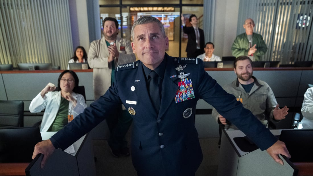 Steve Carell stars in Greg Daniels's Space Force.
