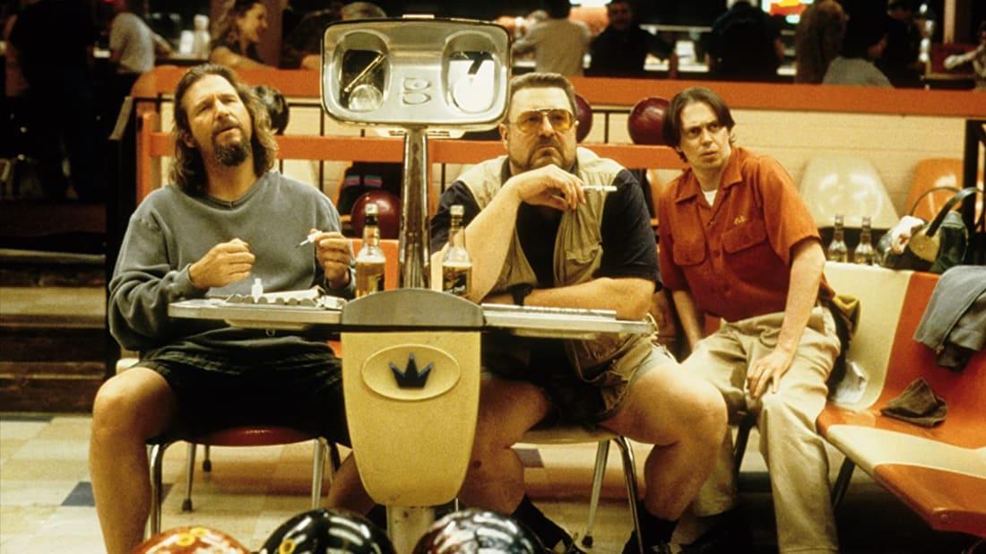 Jeff Bridges, John Goodman, and Steve Buscemi in The Big Lebowski (1998).