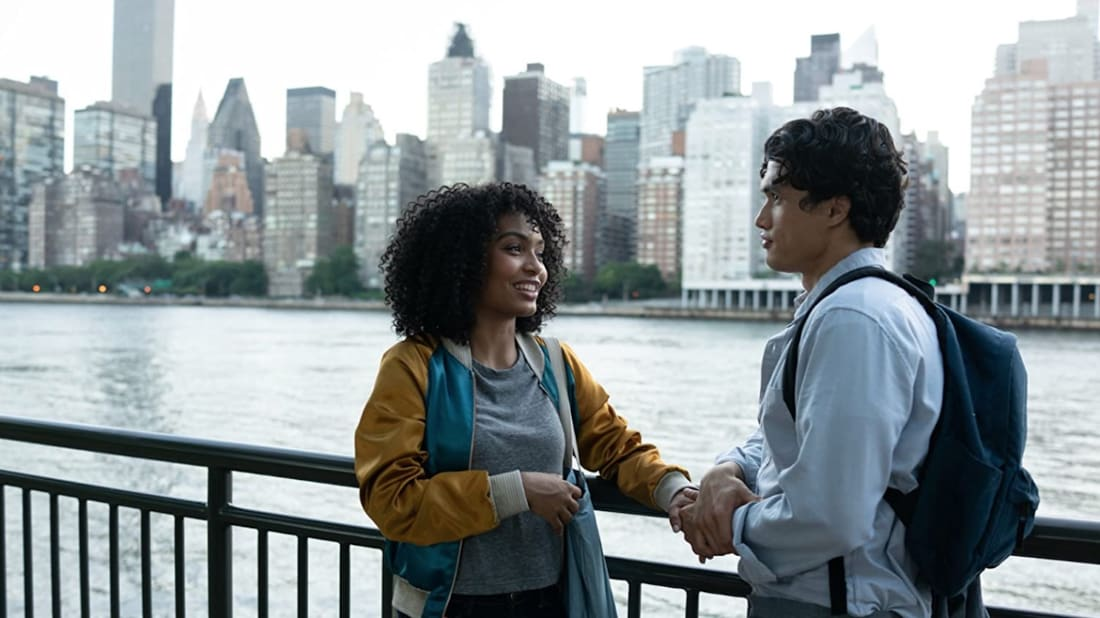 Yara Shahidi and Charles Melton in The Sun Is Also a Star (2019).