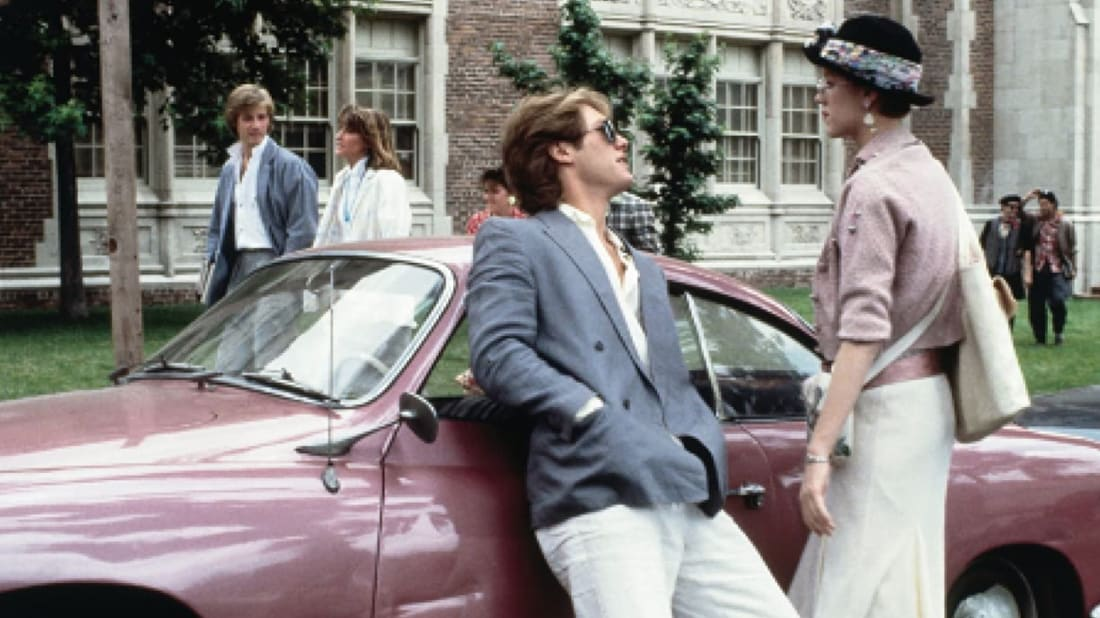 James Spader is the poster boy for '80s smarminess with Molly Ringwald in Pretty in Pink (1986).