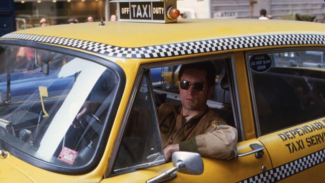 Robert De Niro stars in Martin Scorsese's Taxi Driver (1976).