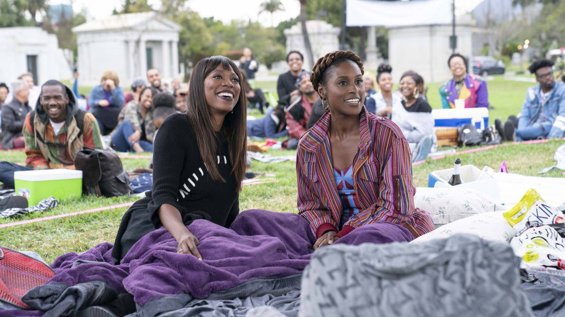 Yvonne Orji and Issa Rae in HBO's Insecure.