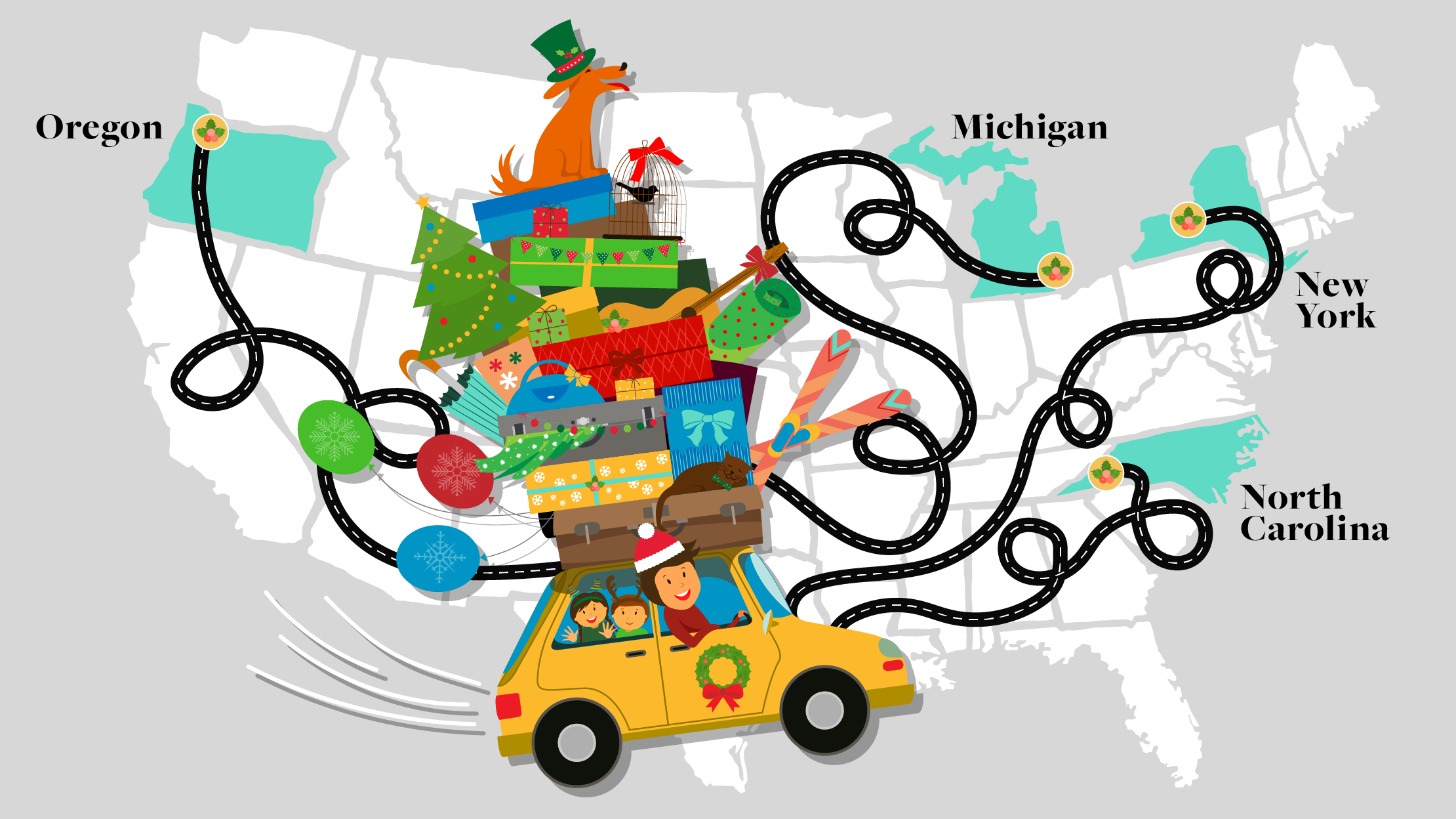 4 Festive Holiday Road Trips To Take in December  Mental