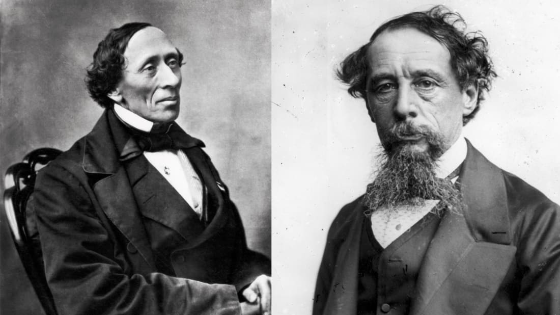 Hans Christian Andersen (Left), Culture Club/Getty Images // Charles Dickens (Right), Rischgitz/Getty Images