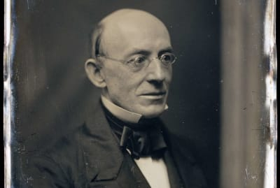 Abolitionist William Lloyd Garrison devoted his life to opposing slavery.