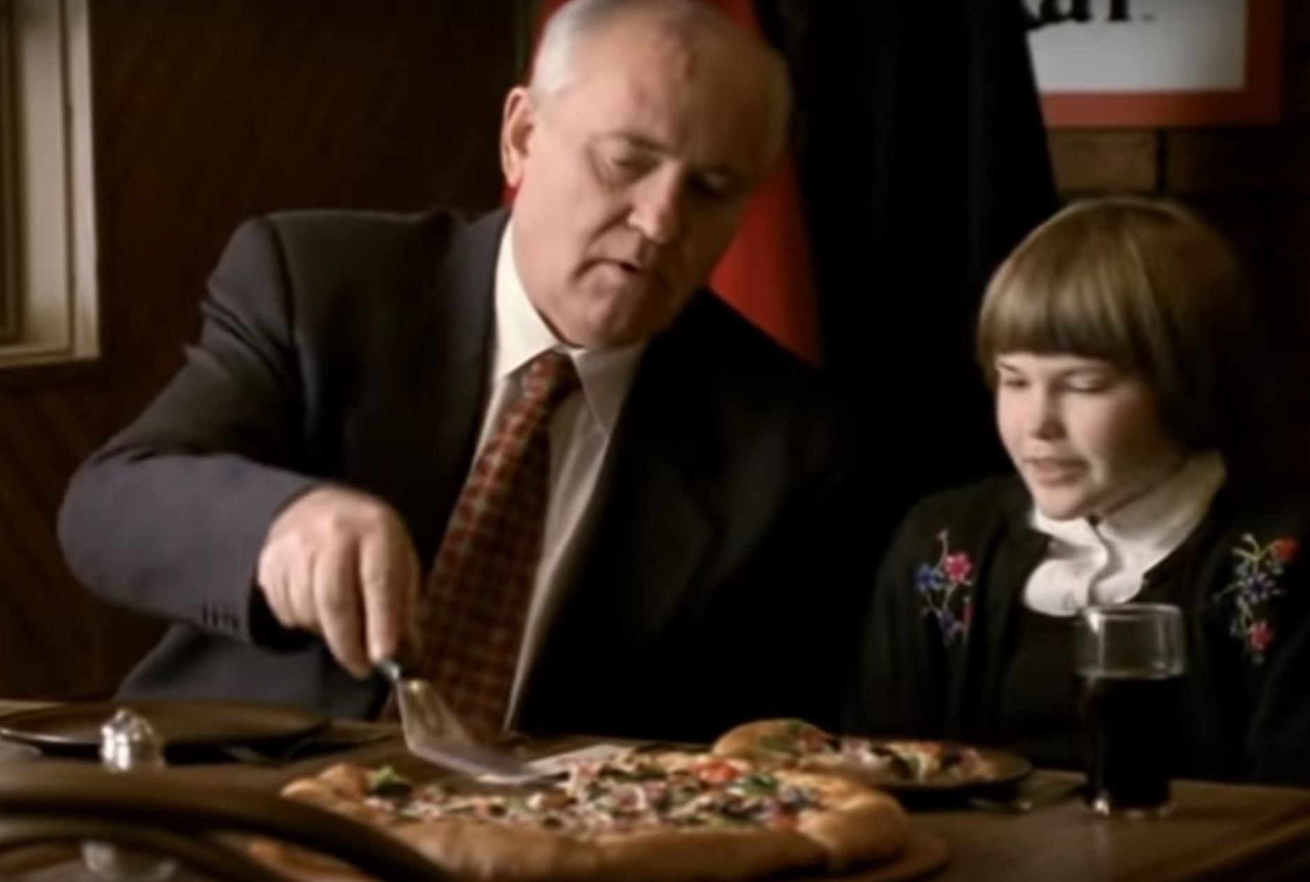 Watch Mikhail Gorbachev Hawk Pizza Hut in This Retro 1997 Commercial