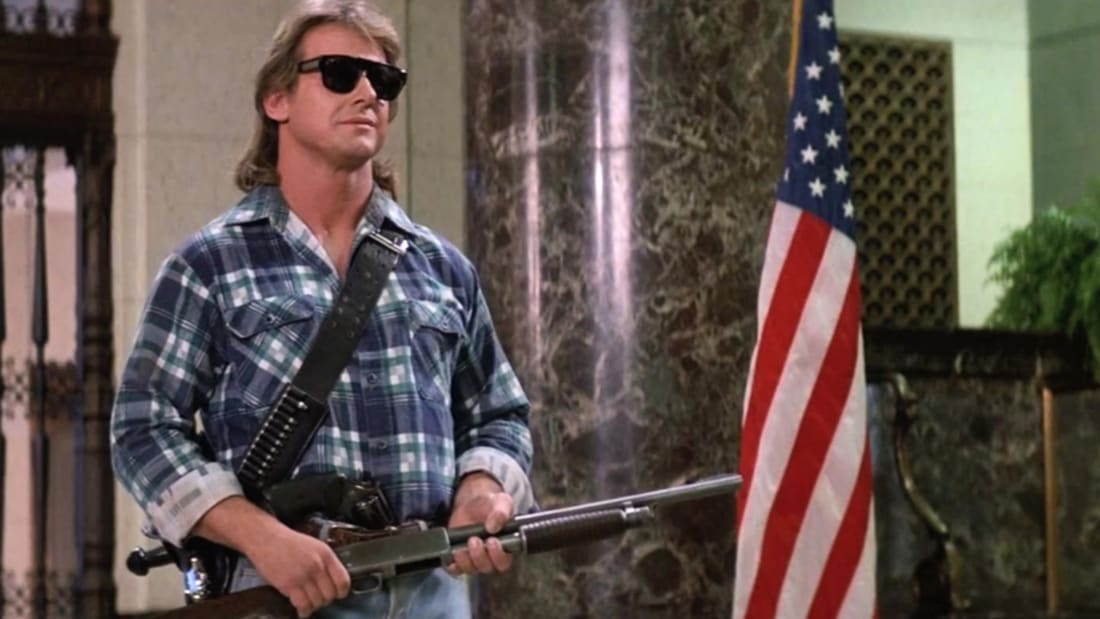 Roddy Piper stars in They Live (1988).