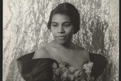 A portrait of Marian Anderson taken by Carl Van Vechten in 1940.