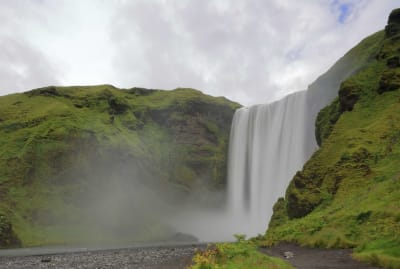 Iceland's Skógafoss waterfall wants you to wail your heart out.