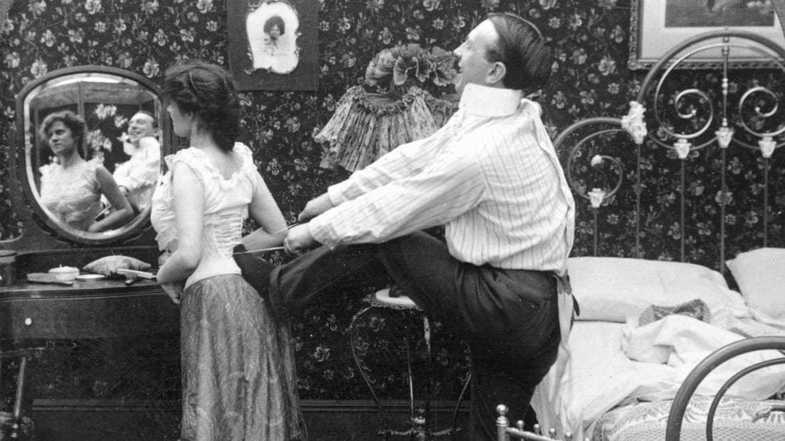 A portrait of marital bliss.