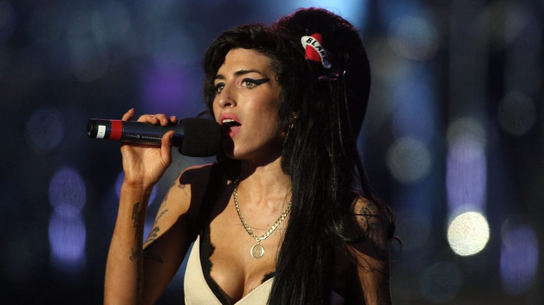 Amy Winehouse performs during the 46664 concert in celebration of Nelson Mandela's life at London's Hyde Park on June 27, 2008.