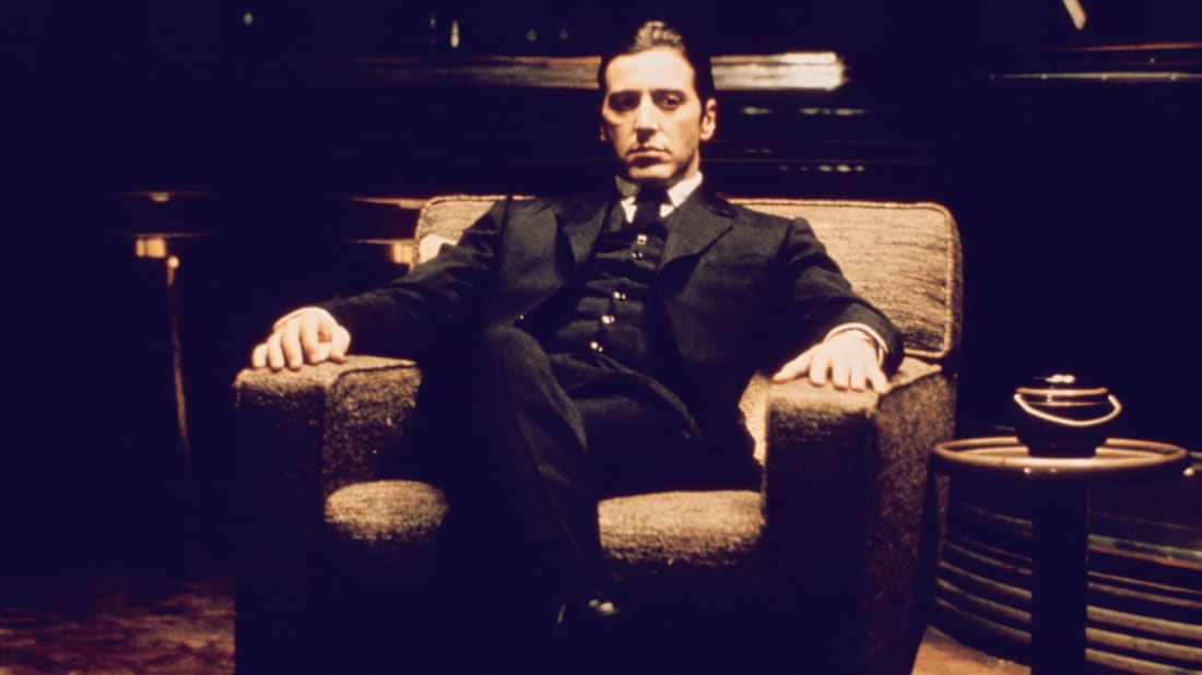 Al Pacino stars in The Godfather Part II (1974).