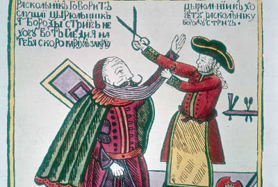 To Westernize Russia, Peter the Great taxed beards.